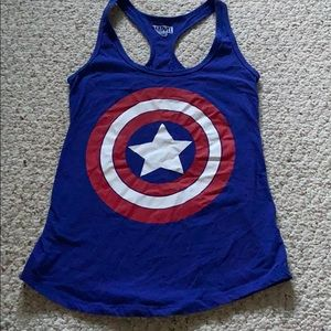Marvel Captain America Blue Tank Top